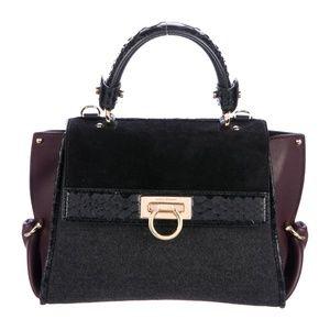 AUTHENTIC Ferragamo Python Trim Mini Sofia Bag